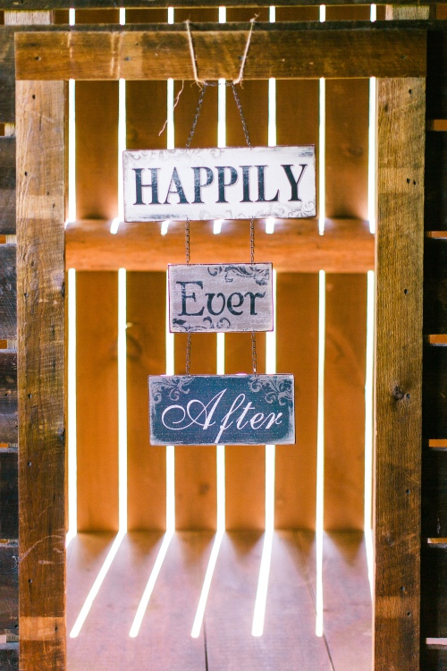 Happily ever after wedding wood sign