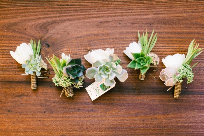 Succulent bouttonnieres