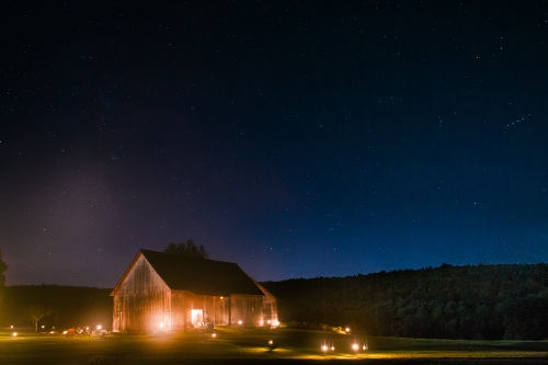 Starry night at the Nipmoose Barns